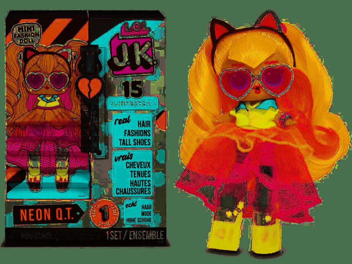 MGA LOL SURPRISE J.K. Neon Q.T. Mini Fashion Doll with 15 Surprises