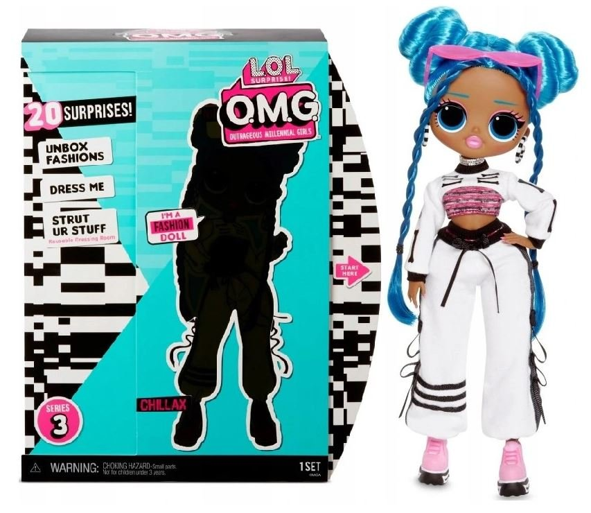 MGA LOL SURPRISE O.M.G. Chillax Fashion Doll Series 3 with 20 Surprises