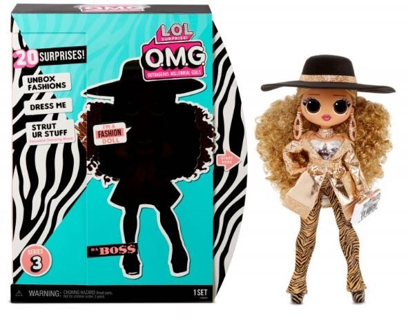 MGA LOL SURPRISE O.M.G. Da Boss Fashion Doll Series 3 with 20 Surprises