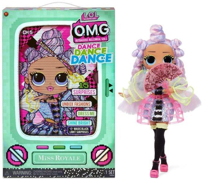 MGA LOL Surprise OMG Dance Miss Royale Fashion Doll 15+ Surprises