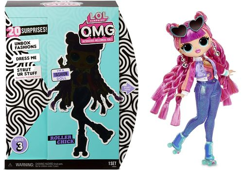 MGA LOL SURPRISE O.M.G. Roller Chick Fashion Doll Series 3 with 20 Surprises