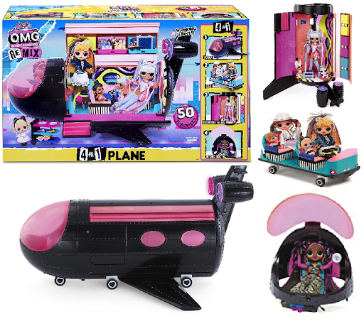 MGA LOL Surprise O.M.G. Remix Plane Playset 4 in 1 Lidmašīna