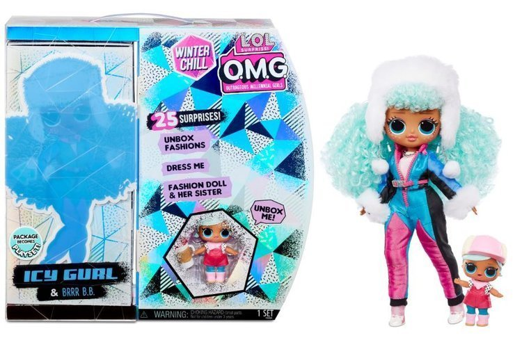 MGA LOL SURPRISE O.M.G. Winter Chill ICY Gurl Doll +25 Surprises