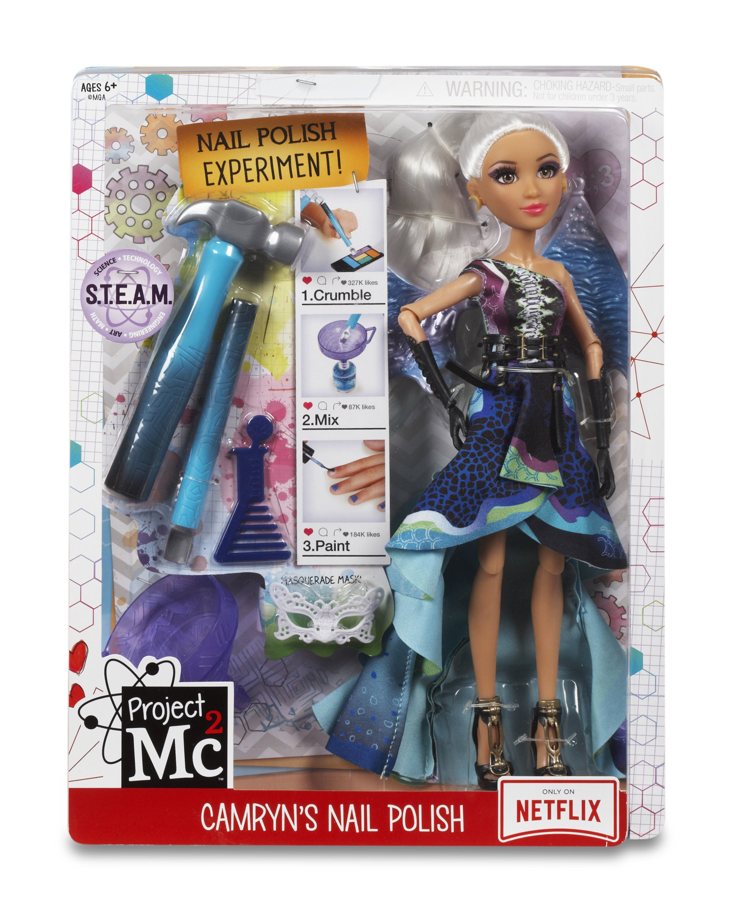 MGA Project MC2 Experiments with Doll Camryn's Nail Polsh lelle 546894