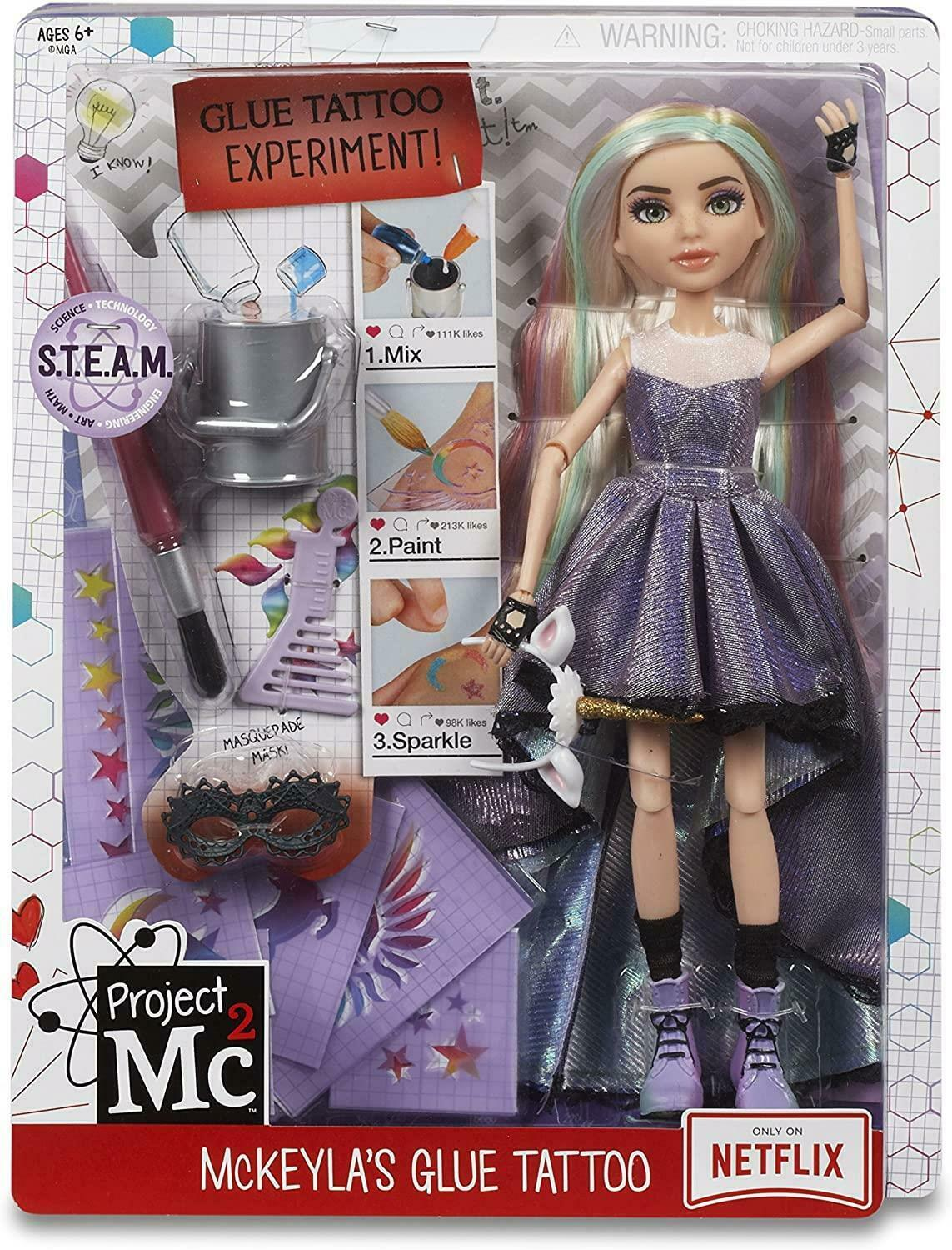 MGA Project MC2 Experiments with Doll McKeyla's Glue tattoo lelle 546856