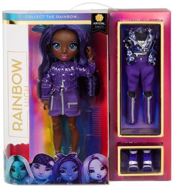 MGA Rainbow high fashion doll Krystal Bailey Indigo lelle
