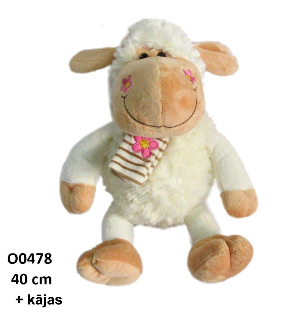 Mīkstā rotaļļieta Aitiņa 40 cm + kājas SUN DAY O0478
