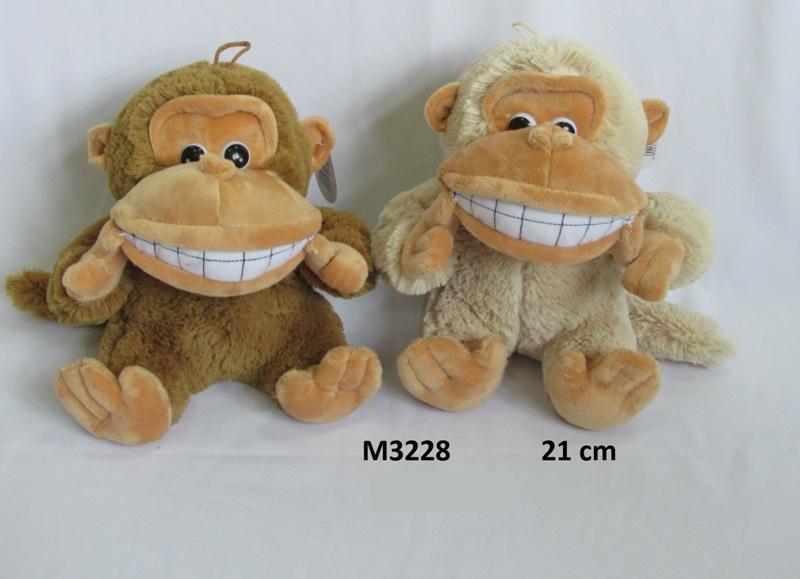 Mīkstā rotaļlieta ar balsi Pērtiķis 21 cm SUN DAY Sandy M3228