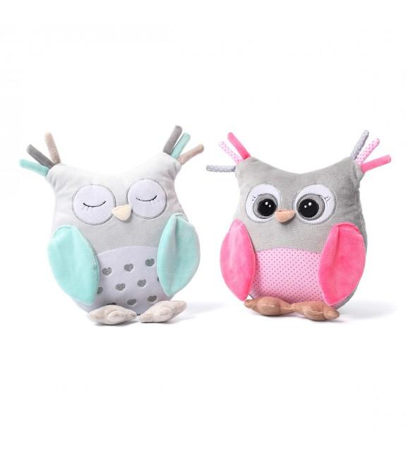 Mīkstā rotaļlieta ar grabuli BABYONO OWL SOFIA 441