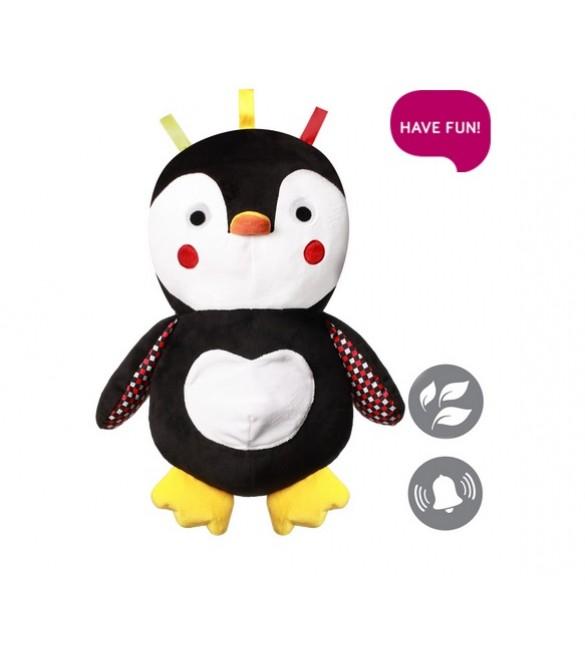 Mīkstā rotaļlieta ar grabuli Pingvīns BabyOno SIR CONNOR 647