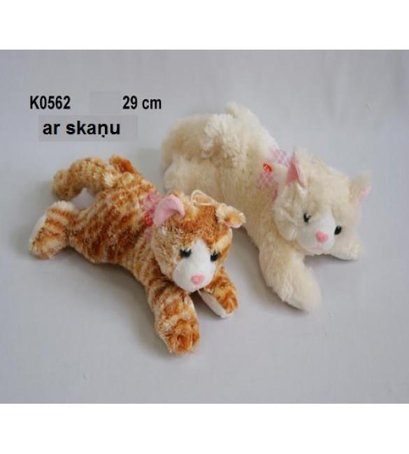 Mīkstā rotaļļieta ar skaņu Kaķis (ņaud) 29 cm SUN DAY K0562