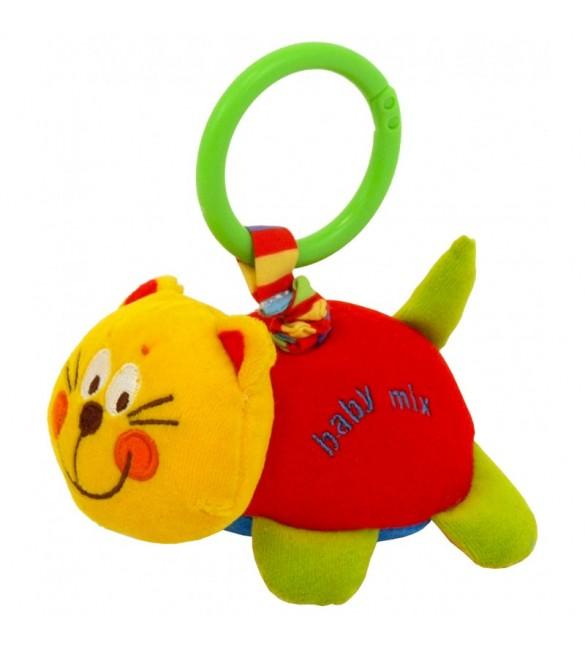 Mīksta rotaļlieta ar vibrāciju KAĶIS BabyMix 8562-13C