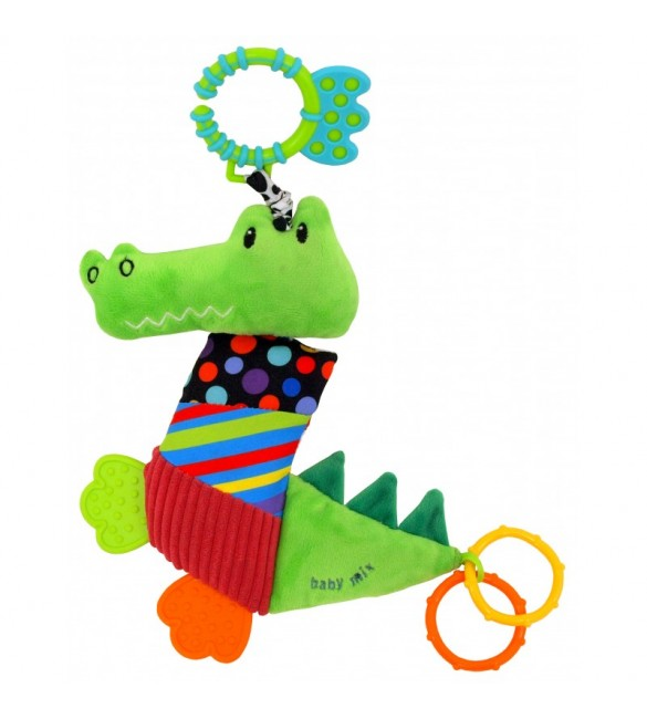 Mīkstā rotaļļieta ar vibrāciju Krokodils BABY MIX 8567-33