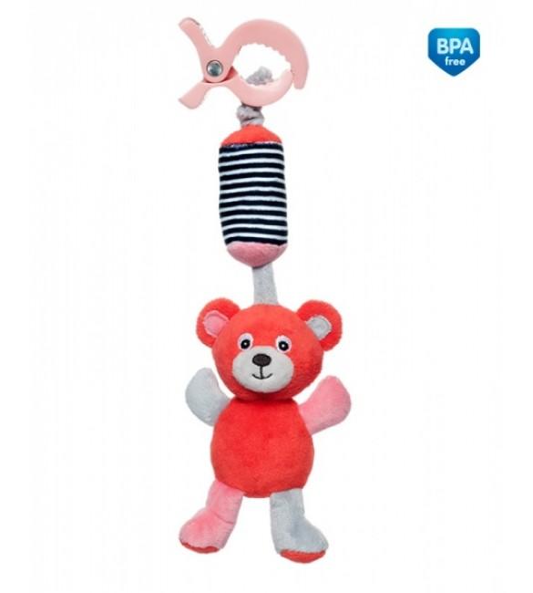Mīksta Rotaļlieta ar zvaniņu Canpol Bear coral 68/054