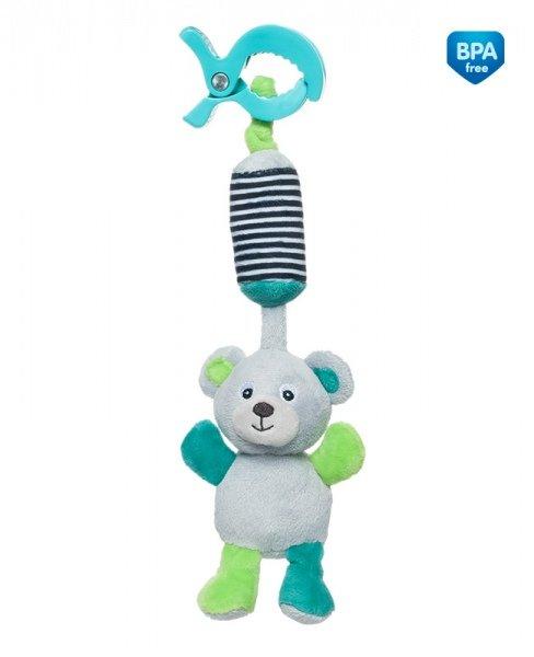 Mīkstā rotaļlieta ar zvaniņu Canpol BEAR grey 68/054
