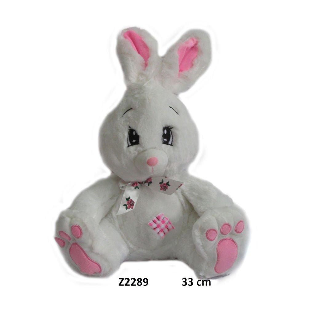 Mīkstā rotaļļieta Balts zaķītis 33 cm SUN-DAY Z2289