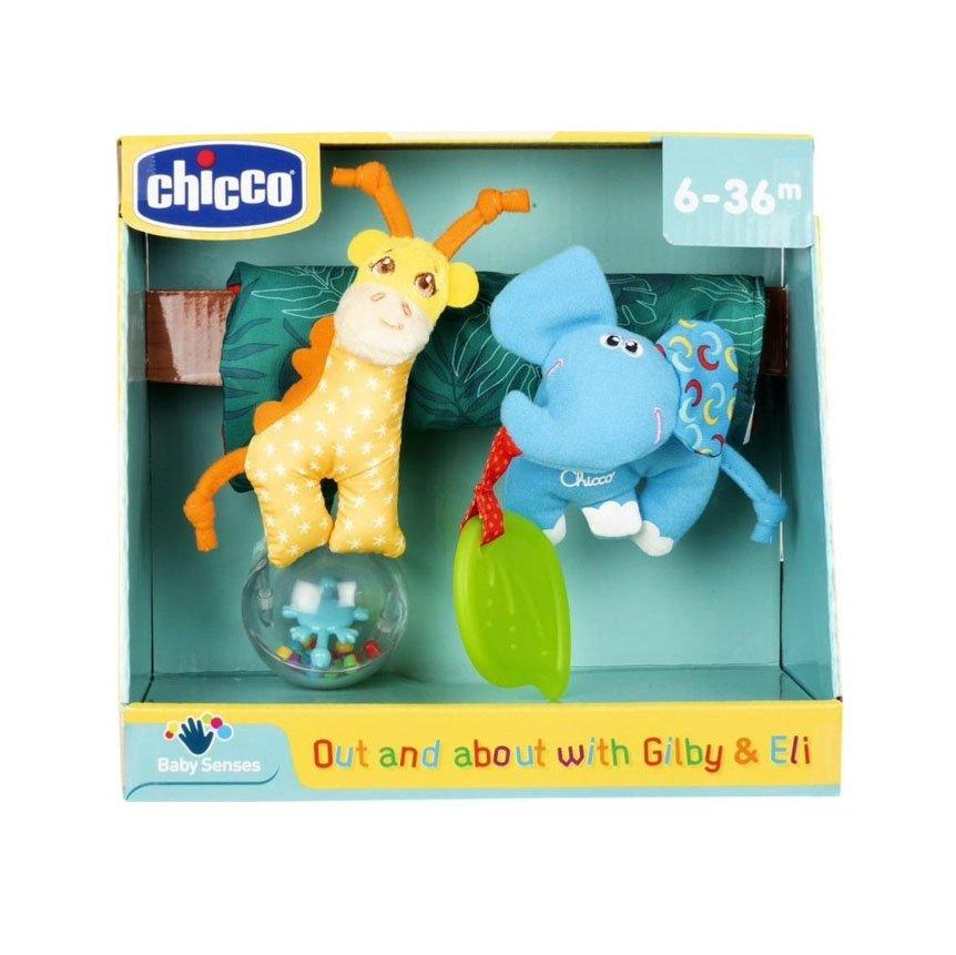 Mīkstā rotaļļieta bērnu ratiņiem CHICCO Gilby & Eli