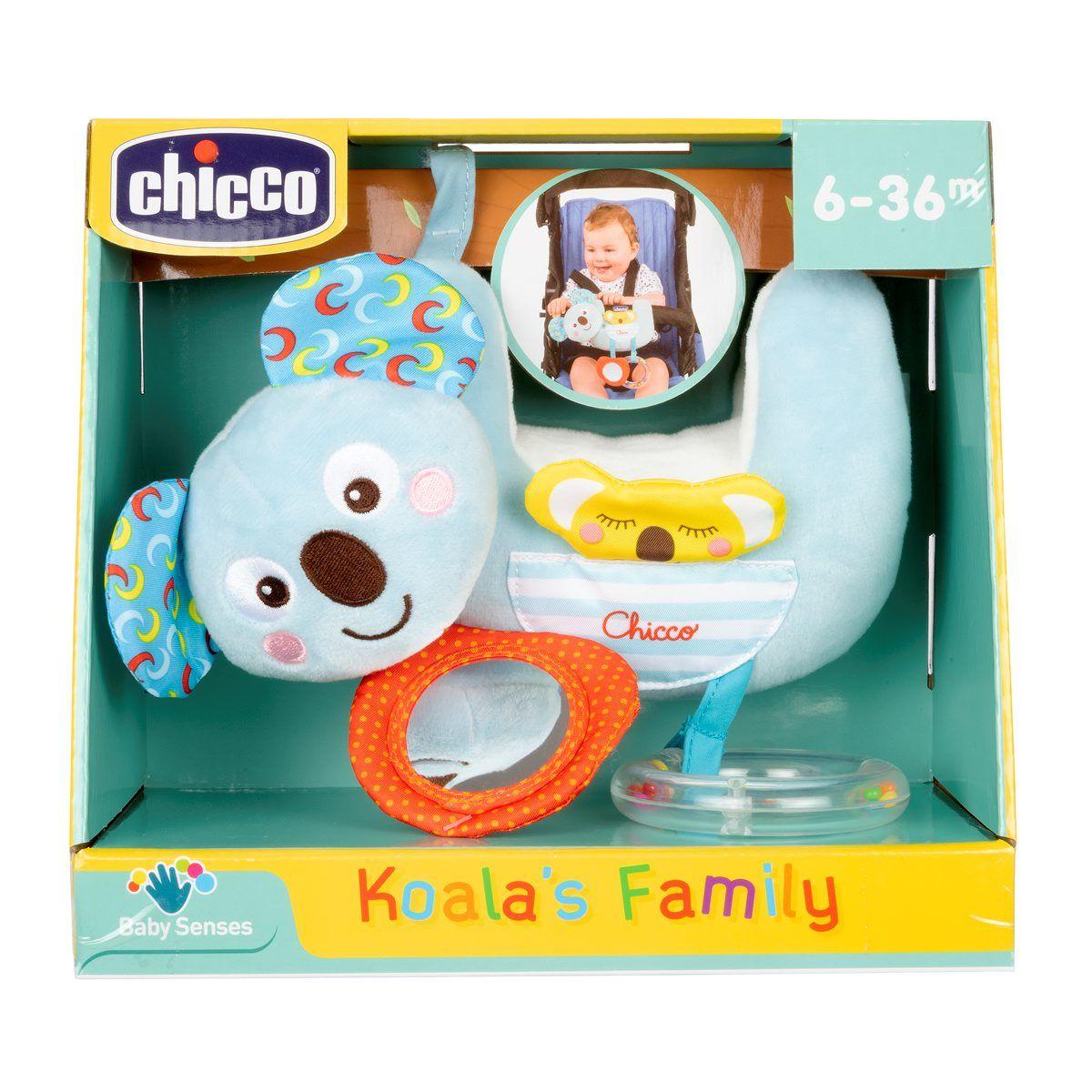 Mīkstā rotaļļieta bērnu ratiņiem CHICCO KOALA'S FAMILY