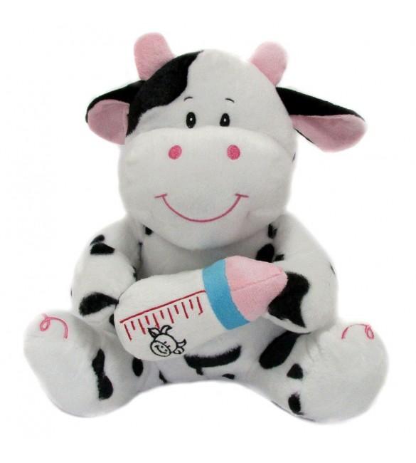 Mīkstā rotaļlieta Gotiņa ar pudelīti 25 cm SUN-DAY Sandy K1090