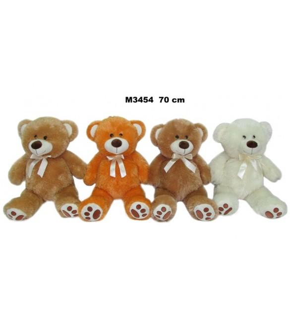 Mīkstā rotaļlieta Lācis ar banti 70 cm SUN-DAY Sandy M3454