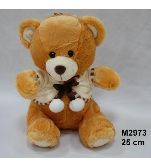 Mīkstā rotaļlieta Lācis jaciņā 25 cm SUN-DAY Sandy M2973