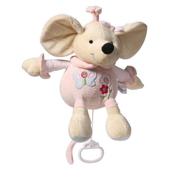 Mīkstā rotaļļieta pele ar mūziku BABYONO CUTE MOUSIE 927