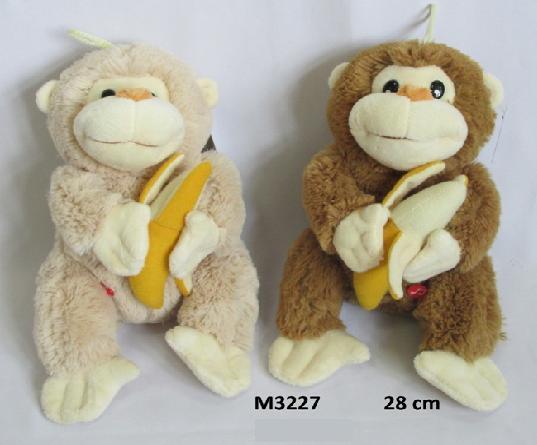 Mīkstā rotaļļieta pērtiķis ar balsi 28 cm SUN DAY M3227