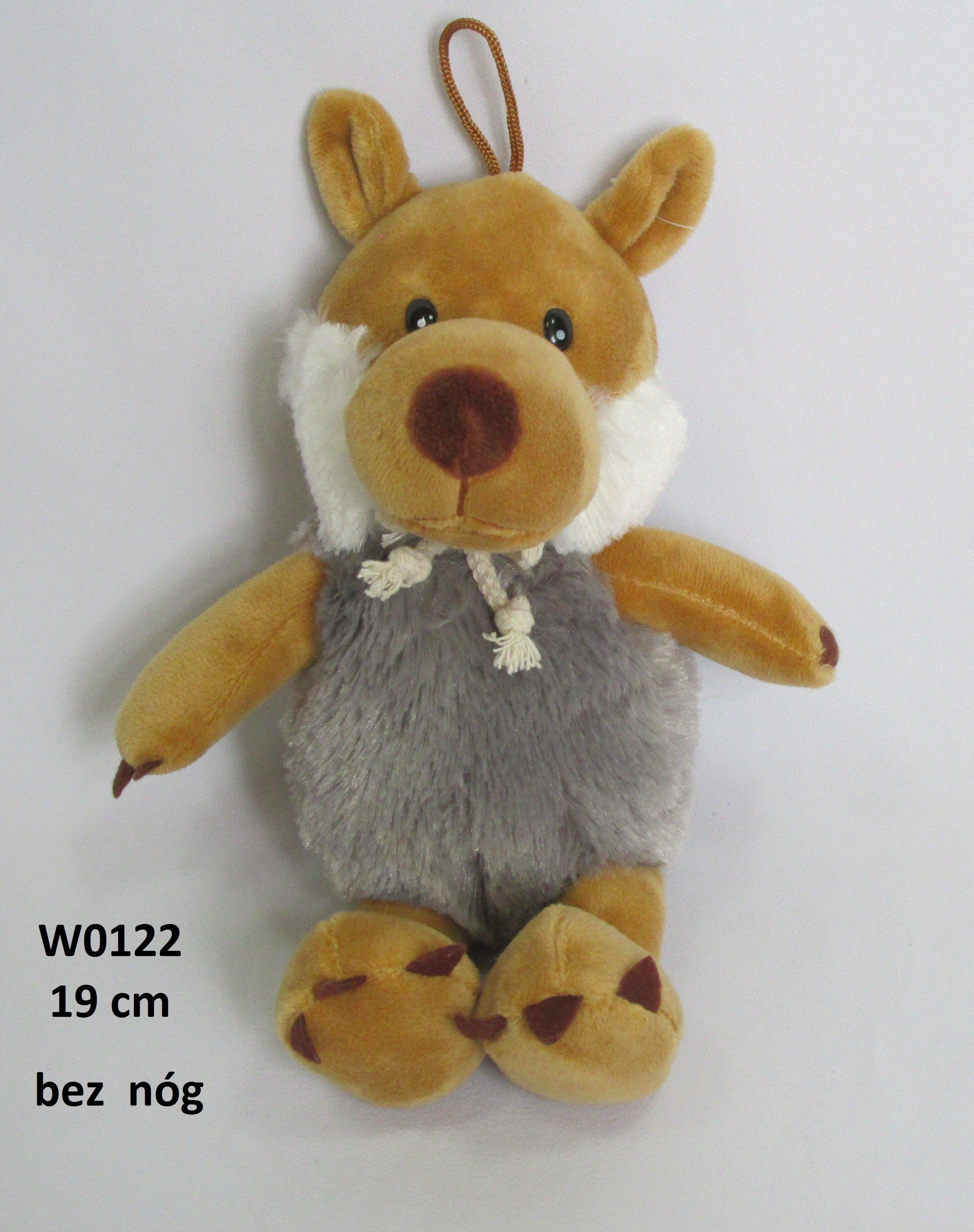 Mīkstā rotaļļieta vilks 19 cm SUN DAY W0122