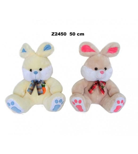 Mīksta rotaļlieta Zaķis ar banti 50 cm SUNDAY Sandy Z2450