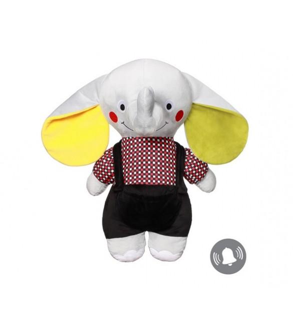Mīksta rotaļlieta Zilonis  ar grabuli BabyOno ANDY SENIOR  648