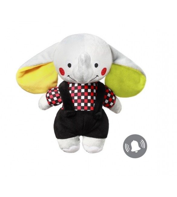Mīksta rotaļlieta Zilonītis ar grabuli BabyOno ANDY 637