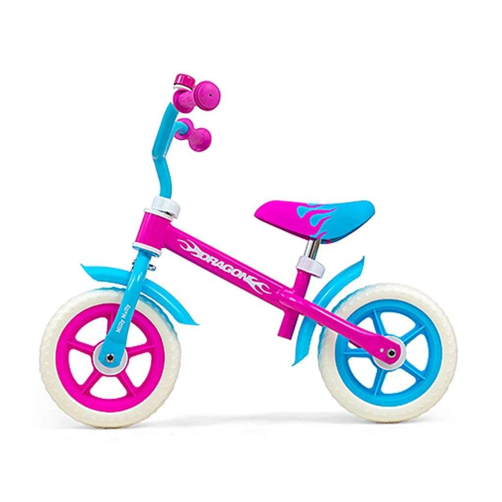 MillyMally Dragon Candy Bērnu skrejritenis ar metālisko rāmi 10''