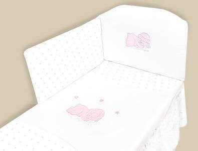MimiNu Kokvilnas gultas veļas komplekts no 2 daļām