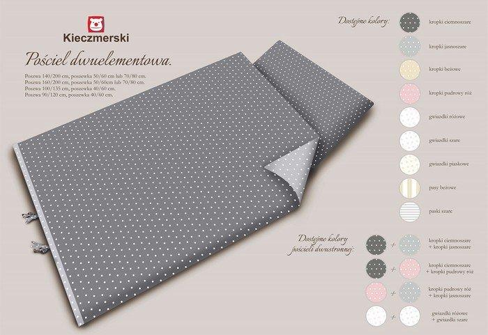 MimiNu Kropki Grey Gultas veļas komplekts 2-dalīgs 100x135 cm tumši pelēka+gaiši pelēka krāsa