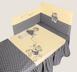 MimiNu Malpki Kokvilnas gultas veļas komplekts no 2 daļām