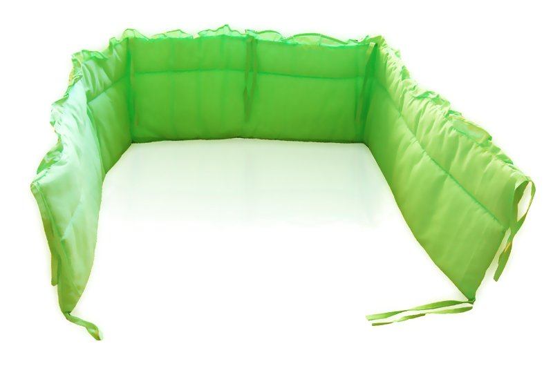 MimiNu Mint Bērnu gultiņas aizsargapmale 180 cm Ar kantīti