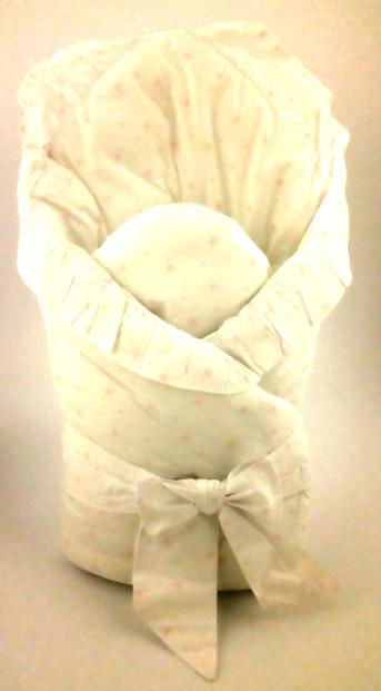 MimiNu White&Pink Stars Kokvilnas multifunkcionāls konvertiņš sedziņa izrakstīšanai (jaundzimušajām) 80x80 cm