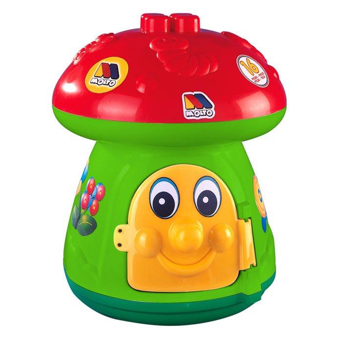 Molto Attīstoša rotaļlieta/konstruktors Sēņu Māja ar 15 gb. klucīšiem