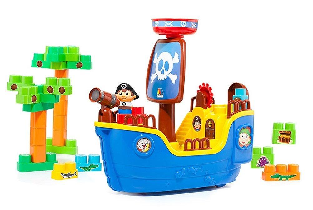 Molto Pirate ship Blocks Attīstoša rotaļlieta - konstruktors ar 30 gb. klučiem