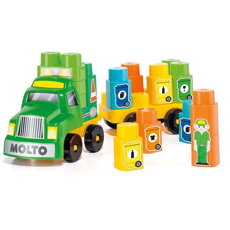 Molto Recycle Truck Attīstoša rotaļlieta auto/konstruktors ar 25 gb. klucīšiem