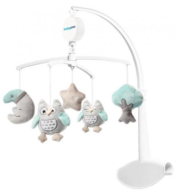 Muzikālais karuselis gultiņai BabyOno OWL SOPHIA 443
