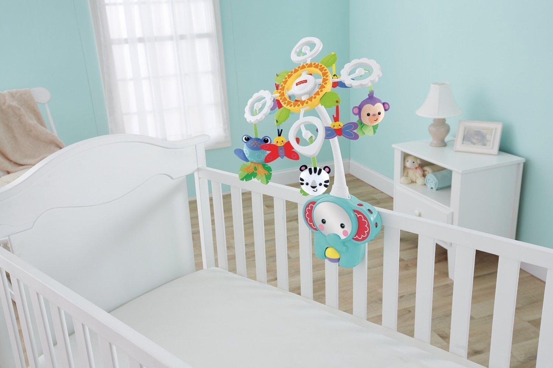 Muzikālais karuselis gultiņai Fisher Price Deluxe Crib-to-Floor Mobile BFR22
