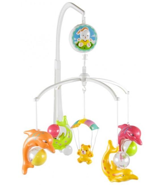 Muzikālais karuselis gultiņai SunBaby Delfīni B10.017.1.1