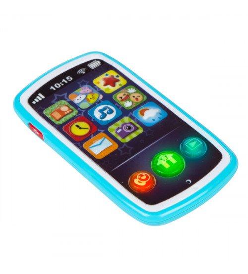 Muzikālais telefons ar skaņām 14 cm 6 m+ CB44523