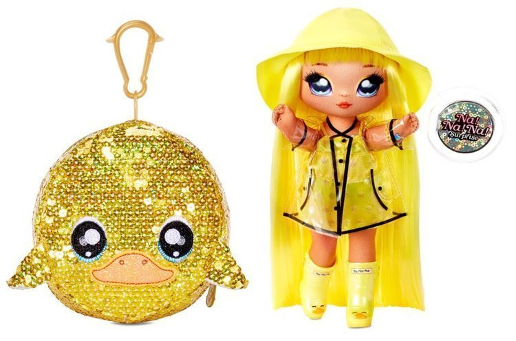 Na! Na! Na! Surprise 2-in-1 Fashion Doll Daria Duckie & Plush Pom with Confetti Duck