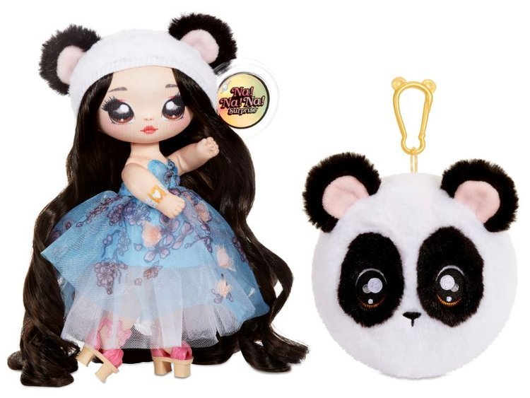 Na! Na! Na! Surprise 2-in-1 Fashion Doll & Plush Pom with Confetti Balloon Juli Joyful