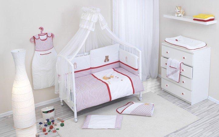 NINO-ESPANA Bērnu gultas veļas kokvilnas komplekts Canguro Red