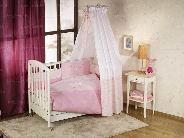 NINO-ESPANA Bērnu gultas veļas kokvilnas komplekts El Amor Pink 3plus