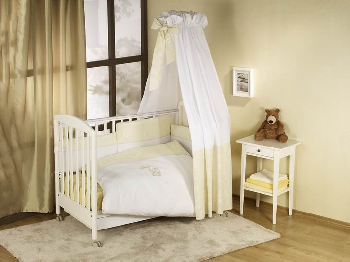 NINO-ESPANA Bērnu gultas veļas kokvilnas komplekts Elefante Ecru 3+1