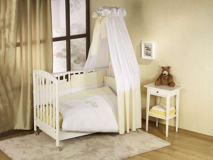 NINO-ESPANA Bērnu gultas veļas kokvilnas komplekts Elefante Ecru 3plus